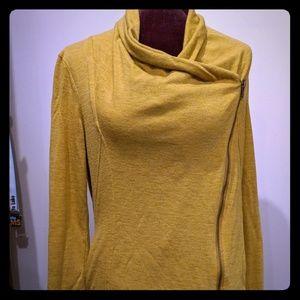 Modcloth Mustard Zip Cardigan